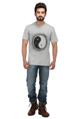 Hand-painted Yin-Yang Grey T-shirt - Rang Rage  - 4