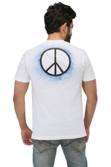 Hand-painted Peace White T-shirt - Rang Rage  - 2