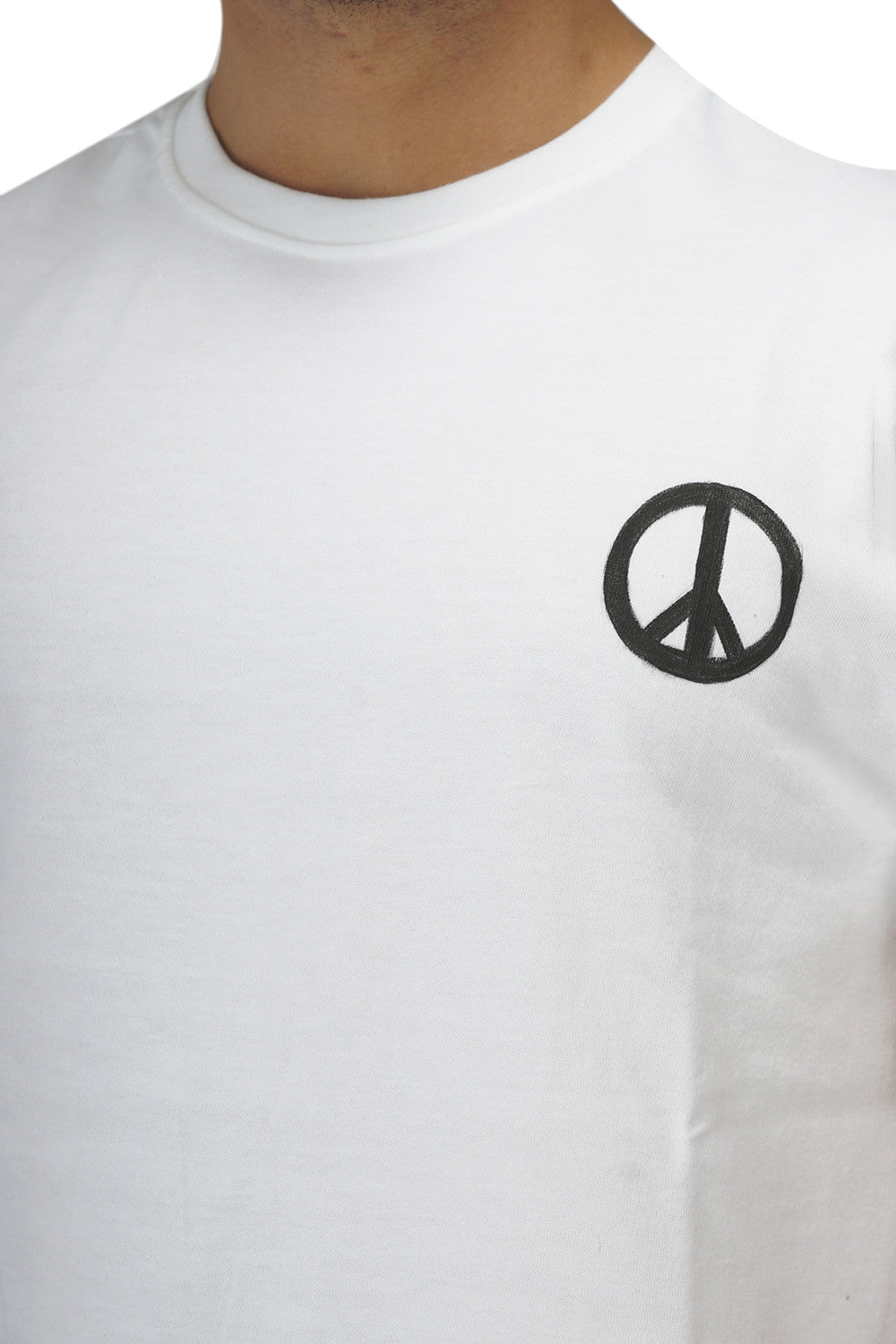 Hand-painted Peace White T-shirt - Rang Rage  - 5