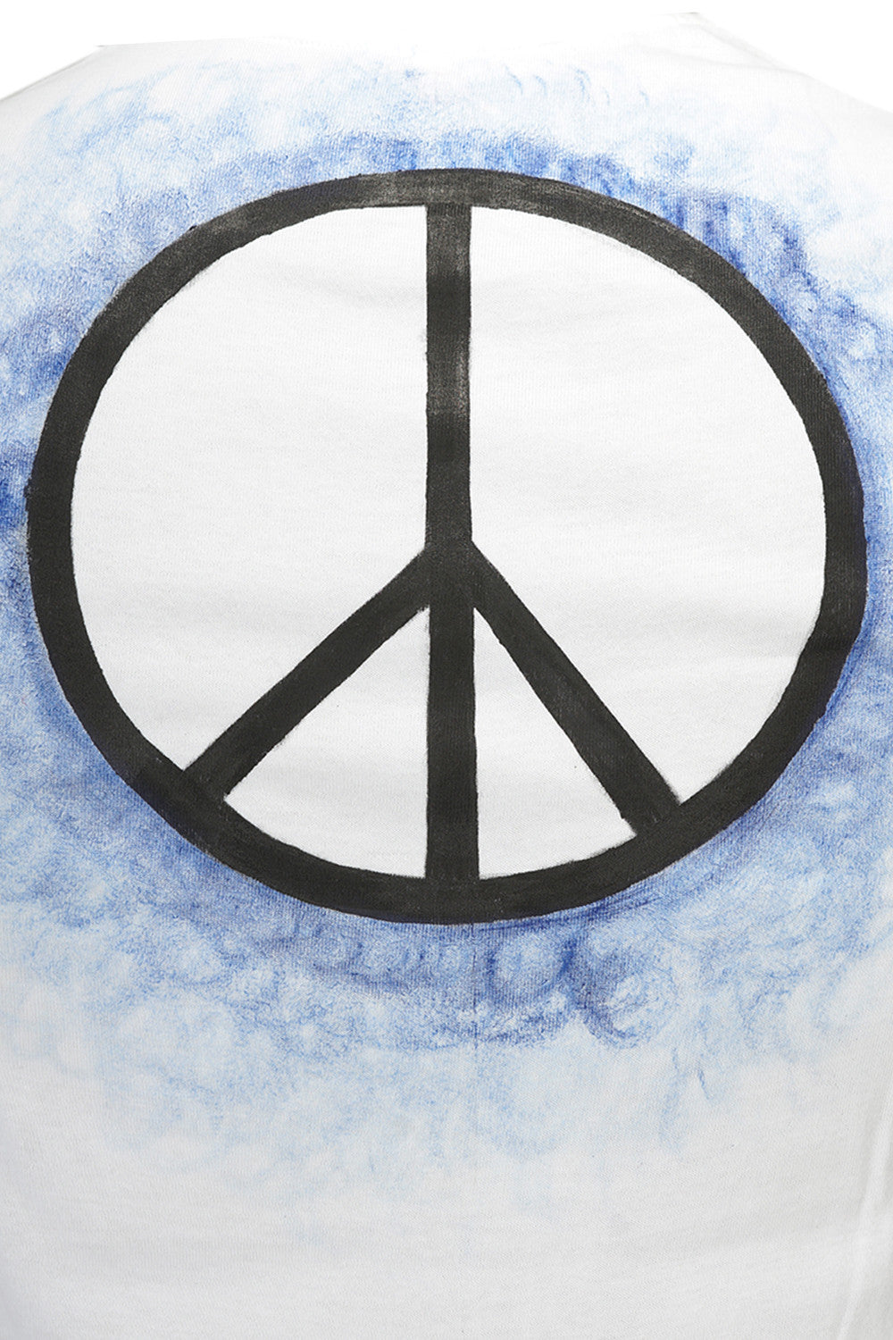 Hand-painted Peace White T-shirt - Rang Rage  - 6