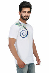 Hand-painted Colourful Sparkles T-shirt - Rang Rage  - 3