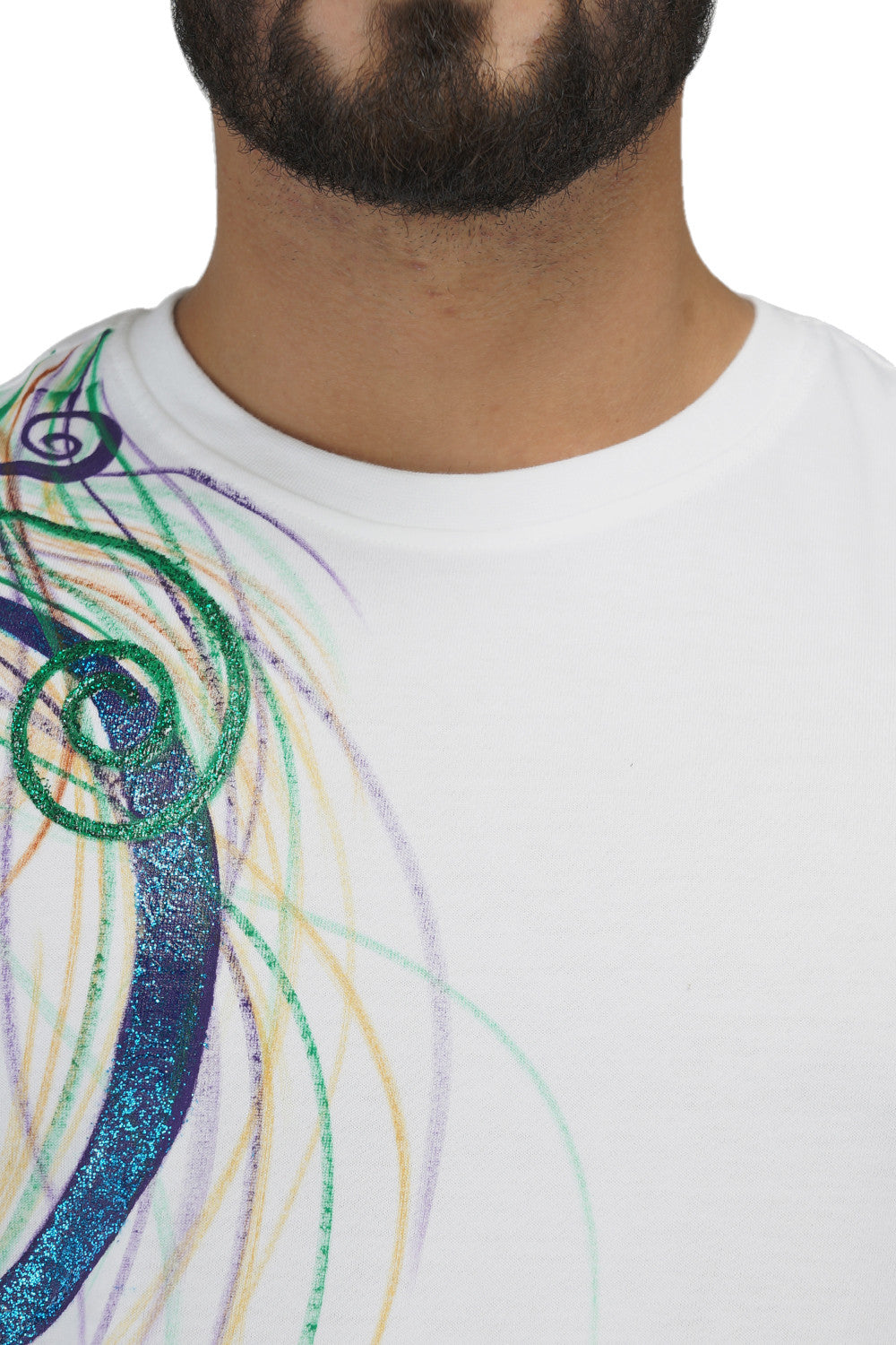 Hand-painted Colourful Sparkles T-shirt - Rang Rage  - 5