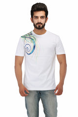 Hand-painted Colourful Sparkles T-shirt - Rang Rage  - 1