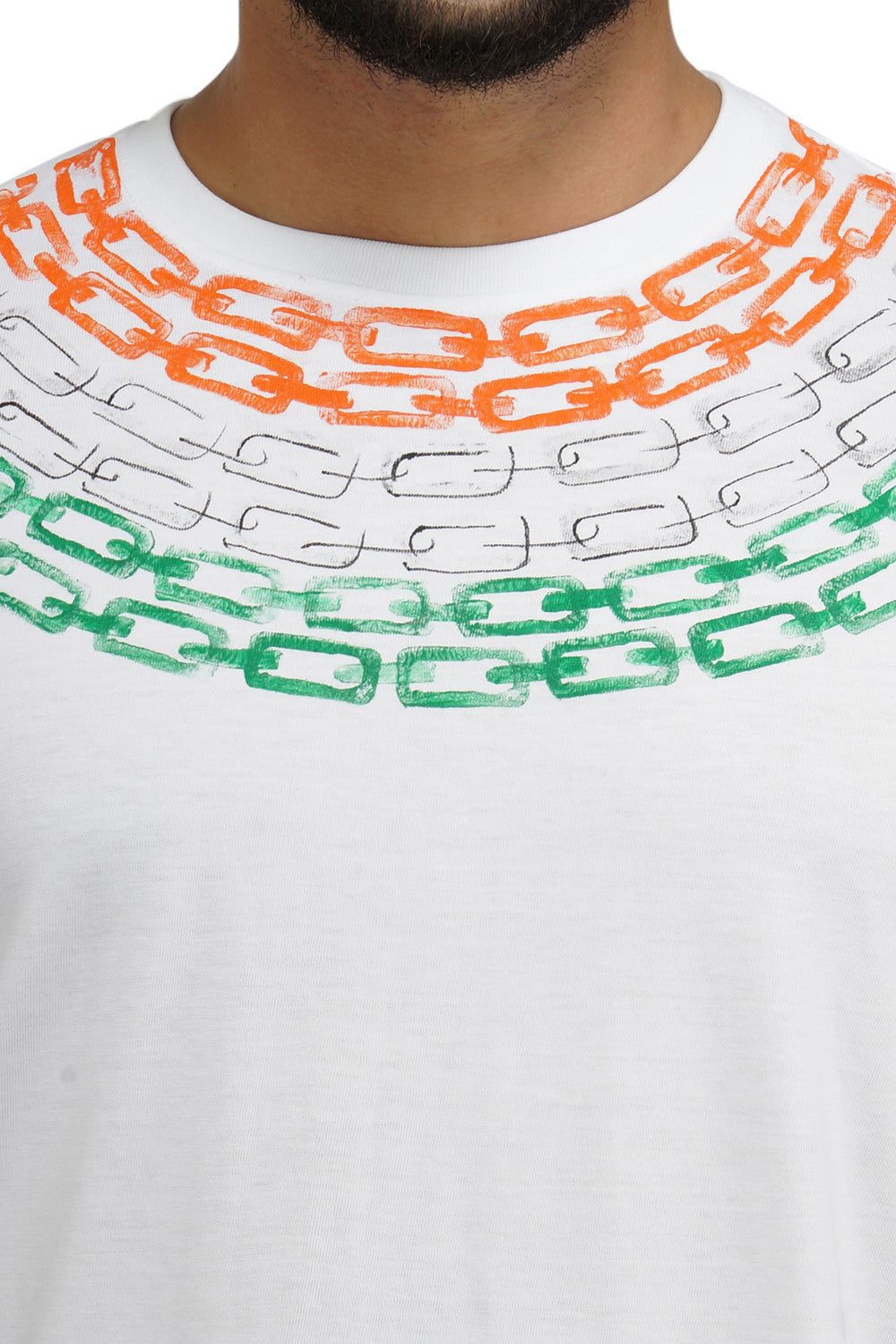 Hand-painted Chain of Freedom White T-shirt - Rang Rage