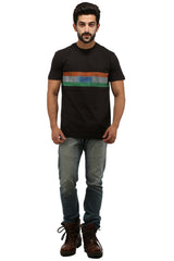 Hand-painted Trio Band Black T-shirt - Rang Rage  - 4