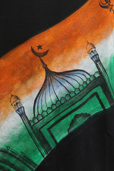 Hand-painted Unified India Black T-shirt - Rang Rage  - 6
