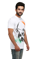 Hand-painted Father of Nation White T-shirt - Rang Rage