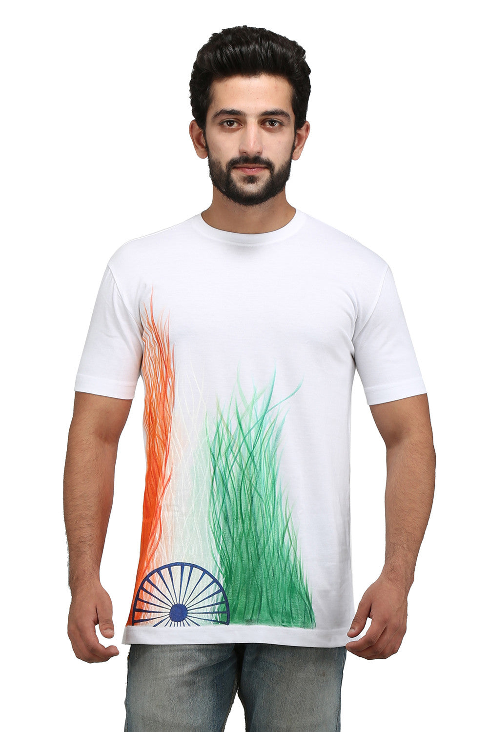 Hand-painted Waves White T-shirt - Rang Rage  - 1