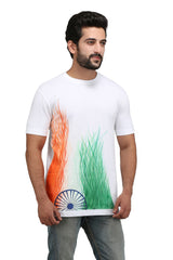Hand-painted Waves White T-shirt - Rang Rage  - 3