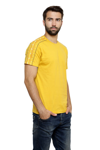 Hand-painted Lebanese Twist  Yellow T-shirt