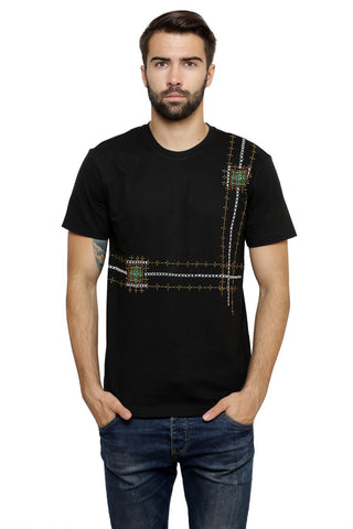 Hand-painted Lebanese Art   Black T-shirt