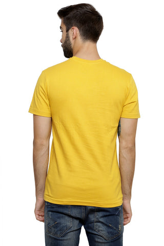 Hand-painted Lebanese Art   Yellow T-shirt