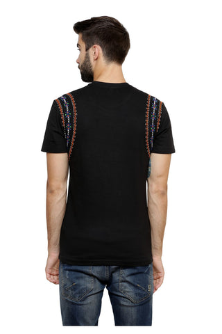 Hand-painted Lebanese Yarns   Black T-shirt