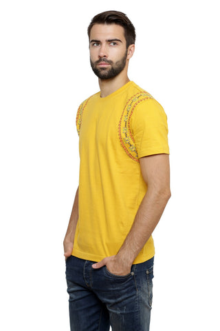 Hand-painted Lebanese Yarns   Yellow T-shirt