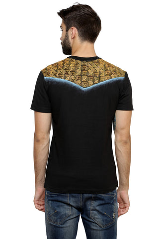 Hand-painted Moroccan Spin Black T-shirt
