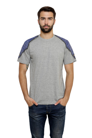Hand-painted Moroccan Diamond Grey T-shirt