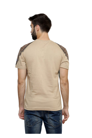Hand-painted Moroccan Diamond Beige T-shirt