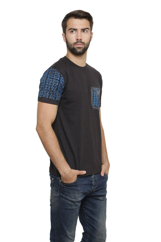Hand-painted Moroccan Expression Black T-shirt