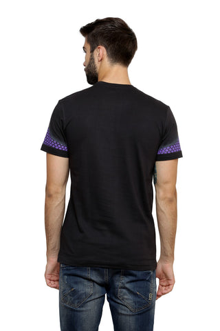 Hand-painted Moroccan Canvas Black T-shirt