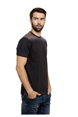 Hand-painted Moroccan Saga Black T-shirt