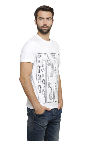 Hand-painted Egyptian Immortals White T-shirt
