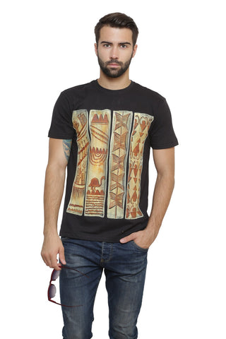 Hand-painted Egyptian Enigma Black T-shirt