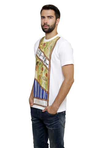 Hand-painted Egyptian Mystery White  T-shirt