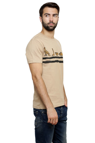 Hand-painted Egyptian Ciphers Beige T-shirt