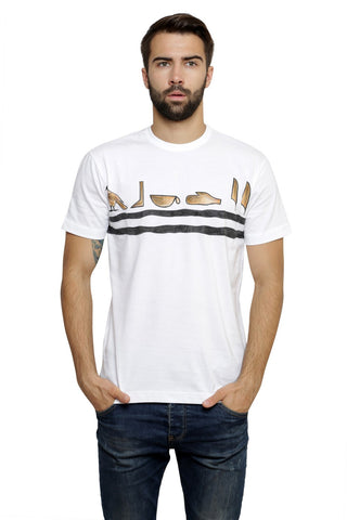 Hand-painted Egyptian Ciphers White T-shirt