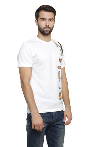 Hand-painted Egyptian Monograms White T-shirt
