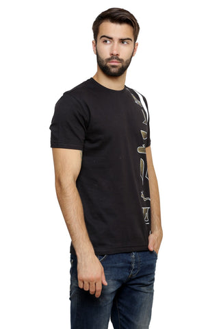 Hand-painted Egyptian Monograms Black T-shirt