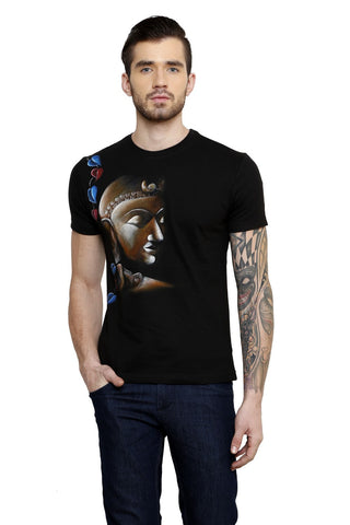 Hand-painted Buddha's Reflection T-shirt