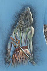Hand-painted Resolute Shiva T-shirt - Rang Rage  - 5
