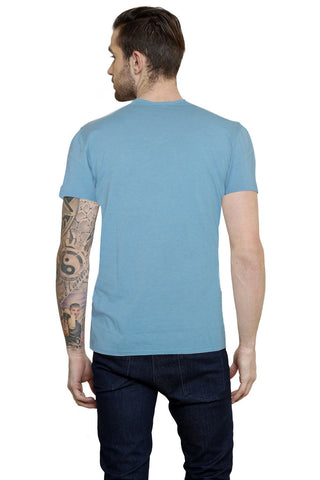 Hand-painted Enlighten Buddha Blue T-shirt
