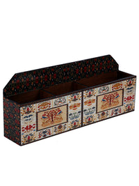 Handcrafted Mughal Magic Multipurpose Wooden Organizer