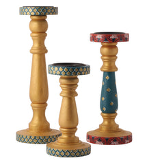 Hand-painted Classic Mughal  Candle Holders