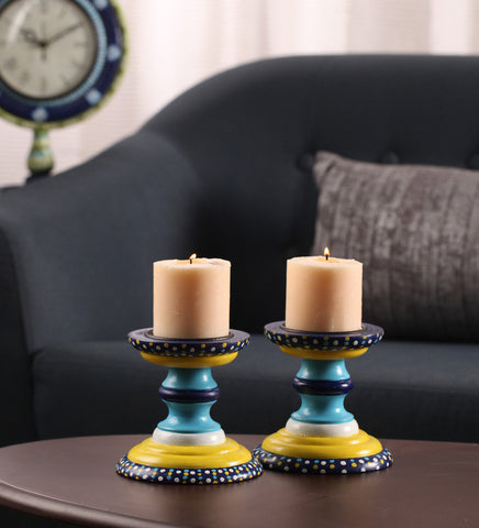 Hand-painted Summer Reprise Candle Holders