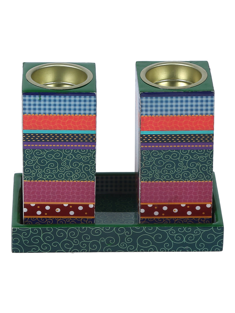 Hand-crafted Contemporary Gift Candle Holders (Set of 2)