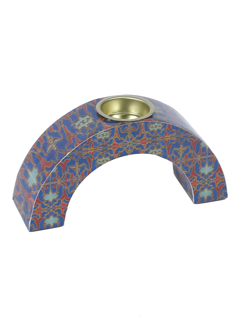 Hand-crafted Persian Floral Candle Holders (Set of 3)