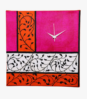 Hand-painted Pretty Paisley Wall Clock - RANGRAGE