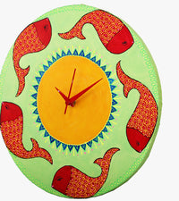 Hand-painted Piscean Reflection Wall Clock - RANGRAGE