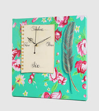 Hand-painted Floral Diary Wall Clock - RANGRAGE