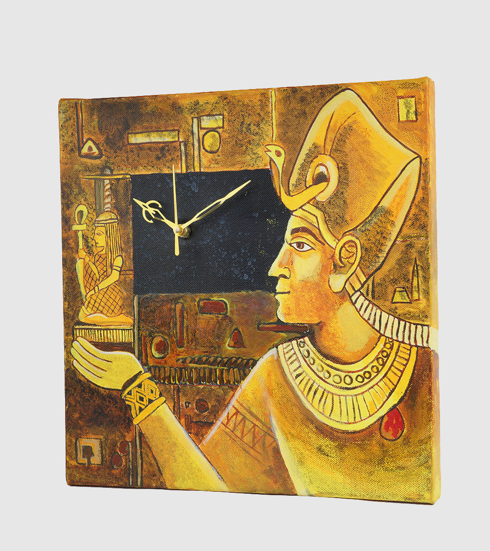 Hand-painted Egyptian Roots Wall Clock - RANGRAGE