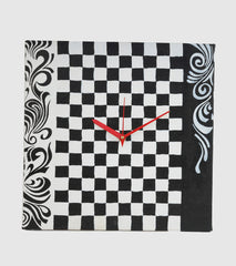 Hand-painted Checks Grace Wall Clock - RANGRAGE