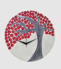 Hand-painted Japanese Cherry Wall Clock - RANGRAGE