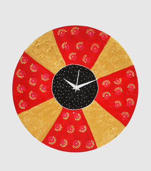 Hand-painted Vivid Vibrance Wall Clock - RANGRAGE