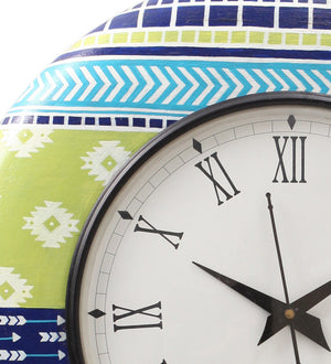 Hand-painted Spring Aztec Wall Clock