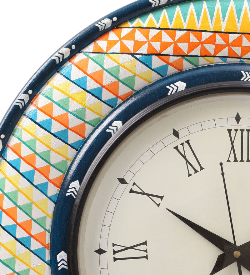 Hand-painted Summer Aztec  Wall Clock