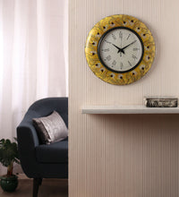 Hand-painted Autumn Mughal  Wall Clock