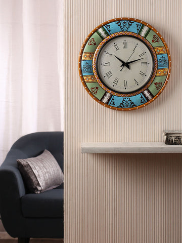 Hand-painted Vintage Mughal  Wall Clock